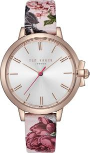 Ted Baker Ladies Multi Coloured ruth Analogue Leather Strap Watch Te50267001