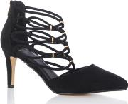 Black carrie Cage Court Shoes