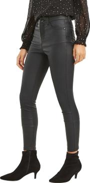 Black Coated Lily Skinny Jeans