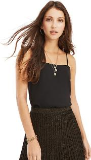 Black Square Neck Cami