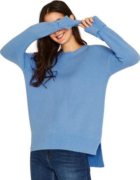 278450af6a4b Blue Long Length Perfect Crew Knit Jumper. Follow oasis Follow debenhams
