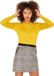 Bright Yellow Crew Cardi