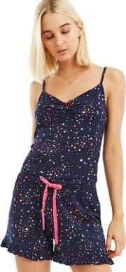 Multi Blue Moon And Star Print Cami