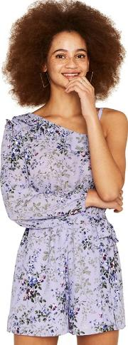 Multi Lilac One Shoulder provence Playsuit