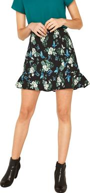 Multi Secret Garden Flippy Mini Skirt