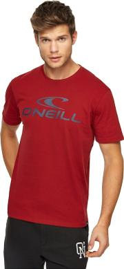 Red Logo Print T Shirt