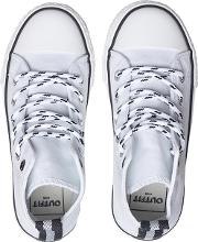 Boys White Canvas High Top Trainers