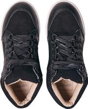 Girls Black High Top Trainers