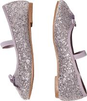 Girls Silver Ballerina Shoes