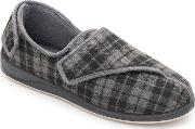 Grey phillip Wide Fit Slippers