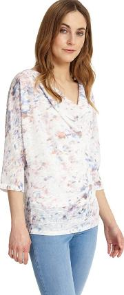 Avalon Blurred Print Top
