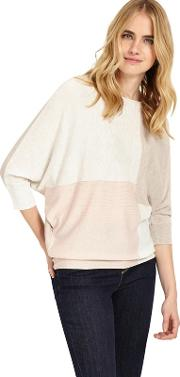 Becca Colour Block Batwing Jumper