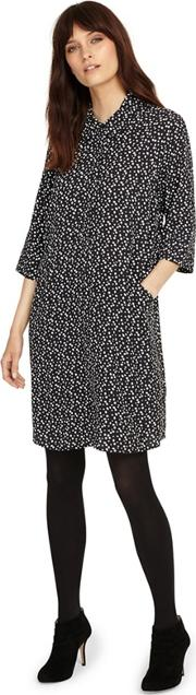 Black And Ivory Bella Spot Dress