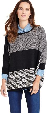 Black Anita Patched Knitted Jumper