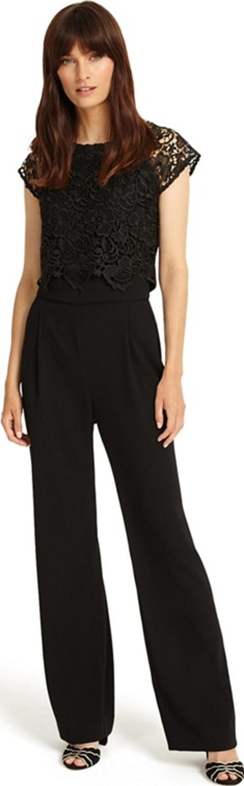 402f679940d phase eight Black Cortine Lace Jumpsuit