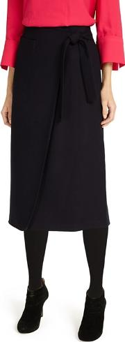 Black Emeraude Cross Front Skirt