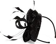 Black Shae Sequin Pillbox Fascinator