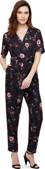 Blue Alicia Floral Jumpsuit
