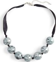 Blue Briony Pattern Bead Necklace