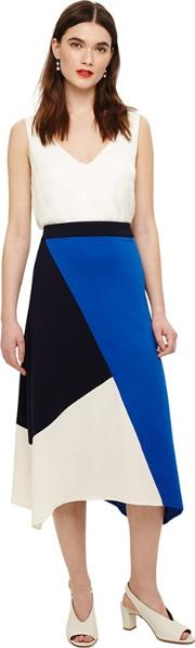 Blue Cassandra Colour Block Skirt