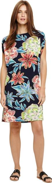 Blue Delany Floral Beach Dress