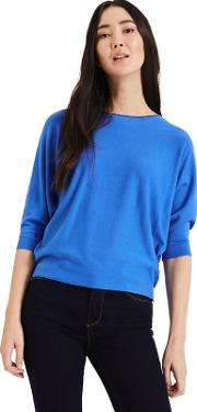 Blue Sky Blue Cristine Batwing Knitted Top