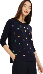 Blue Suky Sequin Top