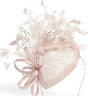 Brown Audrina Feather Pillbox Fascinator