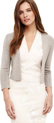 Brown Shimmer Salma Knit Jacket