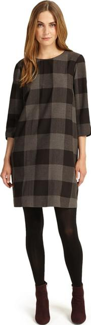 Charcoal Check Swing Tunic Dress