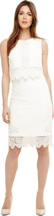 Cream Abrienne Embroidered Dress