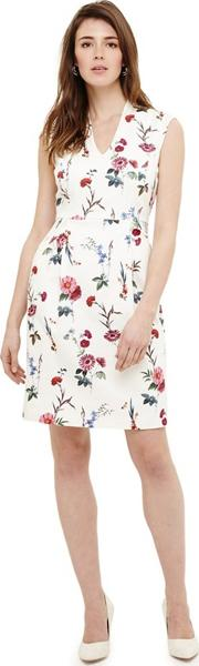 Cream Saffie Floral Print Dress