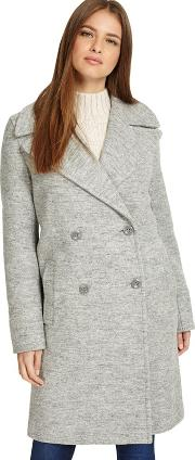Grey Marl julissa Double Breasted Coat