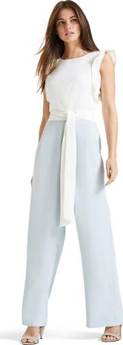 Ivory And Duck Egg Victoriana Jumpsuit