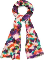 Multicoloured Sabella Print Scarf
