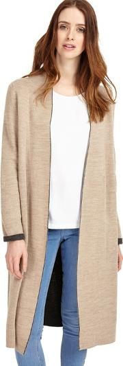 Natural Cream Gianina Dbl Faced Knit Coat