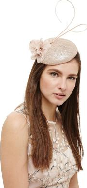 Pink Candice Sequin Pillbox Fascinator