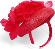 Pink Chelsey Flower Pillbox Fascinator