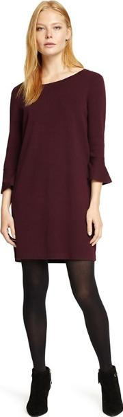Red Bertie Bell Sleeves Knit Dress