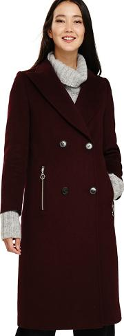Red Connie Crombie Coat