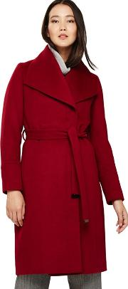 Red Nicci Belted Coat