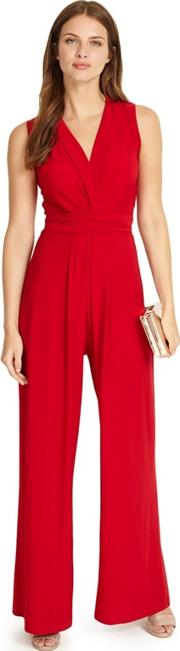 Red Scarlet Tia Sleeveless Jumpsuit