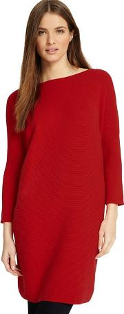 Red Tiberia Ripple Stitch Tunic