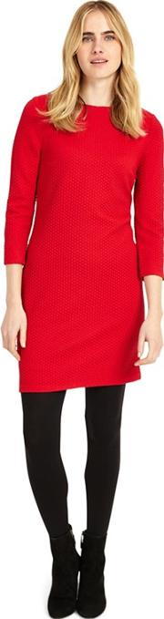 Red Tilly Textured Tunic Top