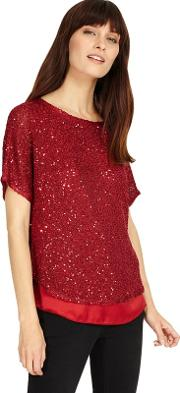 Sequin Macey Knitted Jumper