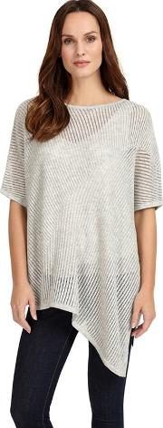 Silver Agnese Asymmetric Knitted Jumper