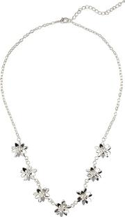 Silver Carey Floral Necklace