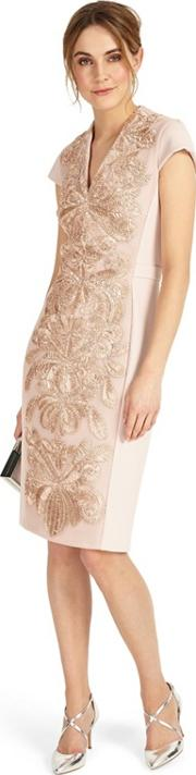 Soft Pink Laurie Embroidered Dress