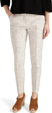 White Erica Jacquard Trousers