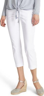 White Halle Crop Trousers